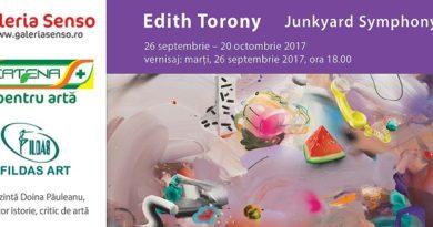 "Vernisajul expoziției ""Junkyard Symphony"" de Edith Torony"